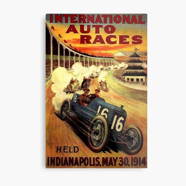 INTERNATIONAL AUTO RACES; Advertising Print Metal Print