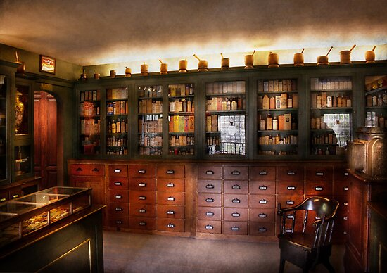 Pharmacy - The Apothecary Shop by Michael Savad