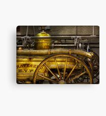 Fireman - Piano Engine - 1855  Canvas Print