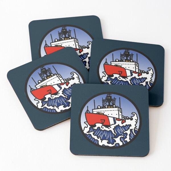 Wave Series - Polar Icebreaker  Coasters (Set of 4)