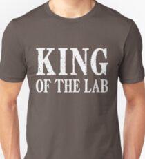 Camiseta ajustada Rey del laboratorio - Texto blanco