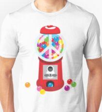 Bubble Gum Machine Peace Sign Unisex T-Shirt