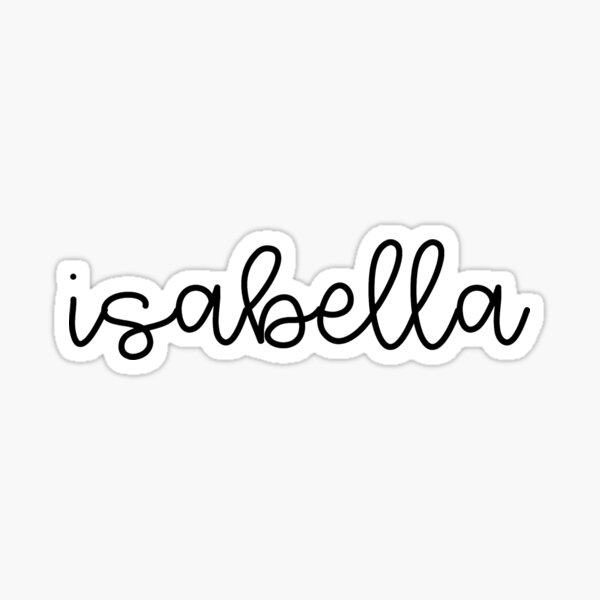 Isabella Name Calligraphy Sticker