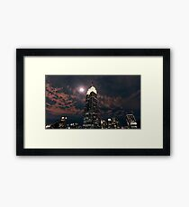 Empire state super moon Framed Print