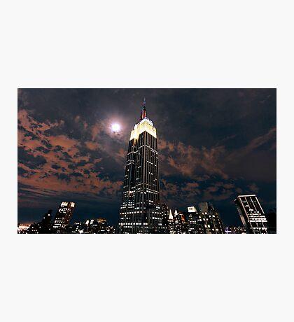 Empire state super moon Photographic Print