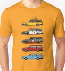 Stack of Volvo 200 Series 245 Wagons Unisex T-Shirt