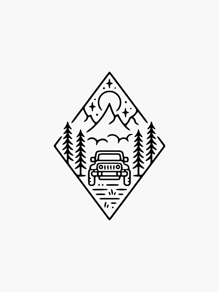 Jeep Mountain Sticker by miamanza