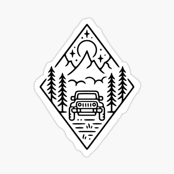 Autocollant Jeep Mountain Sticker