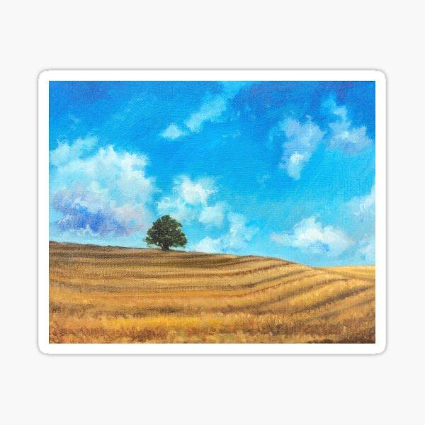 The wide field by American Artist Hilary J. England Sticker