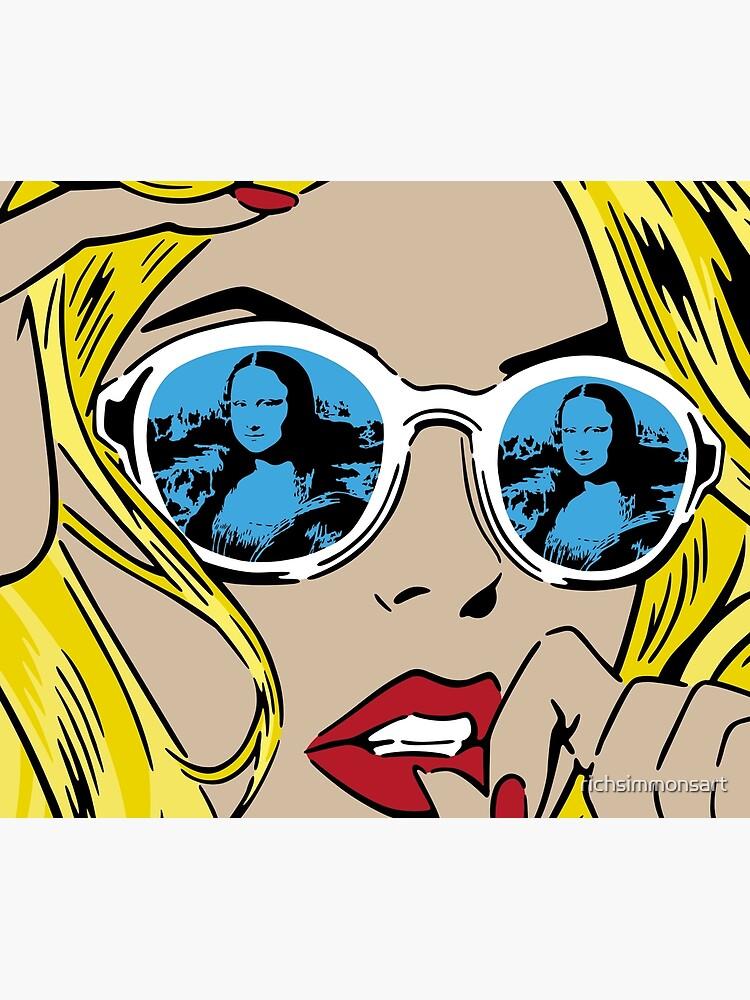 Mona Lisa Reflections Blonde by richsimmonsart