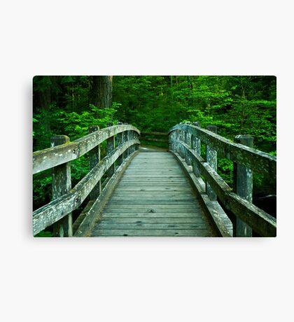Bridge Over Silver Creek Canvas Print