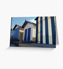 Beach Hut Series - No3 Greeting Card