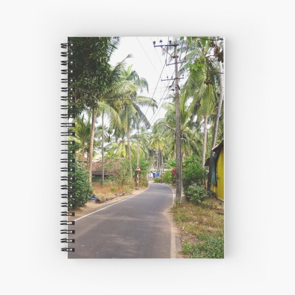 Beautiful rural Indian village house in Coastal India Spiral Notebook