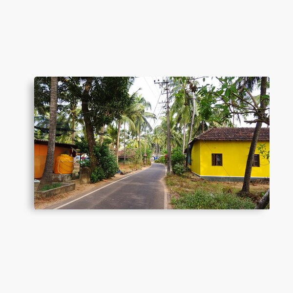 Beautiful rural Indian village house in Coastal India Canvas Print