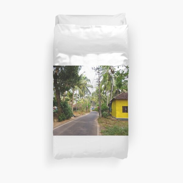 Beautiful rural Indian village house in Coastal India Duvet Cover