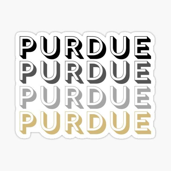 Letras mayúsculas de la Universidad de Purdue Pegatina