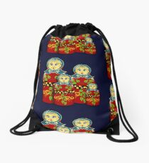 Russian Dolls Drawstring Bag