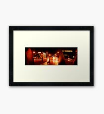 Geelong Sail Sculptures & Night Traffic Framed Print