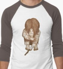 Alone - Sepia Men's Baseball ¾ T-Shirt