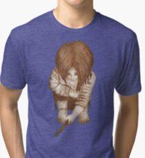 Alone - Sepia Tri-blend T-Shirt
