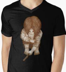 Alone - Sepia Men's V-Neck T-Shirt
