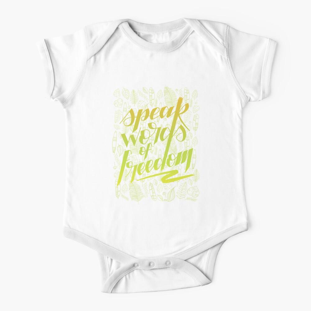 Speak words of freedom Baby One-Piece