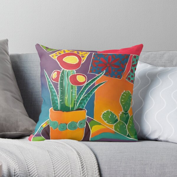 A Colorful Corner Throw Pillow