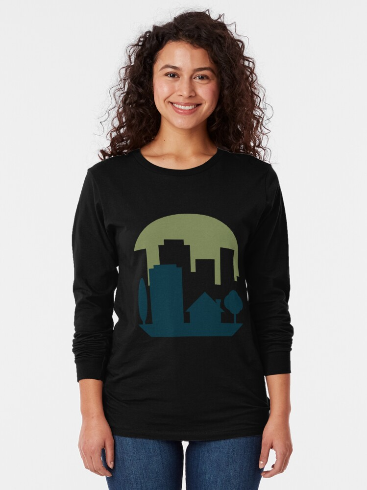 Alternate view of City Suburb Long Sleeve T-Shirt