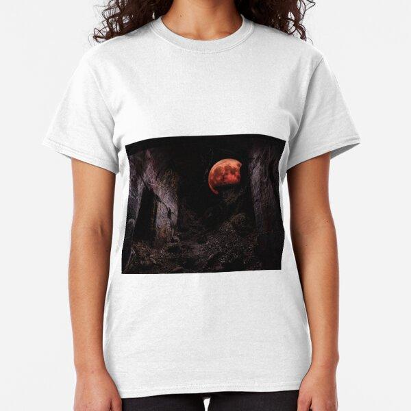 Blood Moon Rising Through Ruins Classic T-Shirt