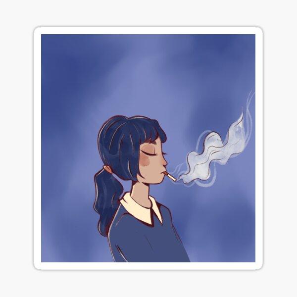 Smoking Girl Sticker