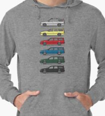 A Stack of Volvo 850 V70 T5 Swedish Turbo Wagons Lightweight Hoodie