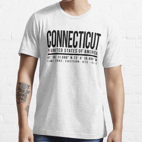 Connecticut Proud (Black text) Essential T-Shirt