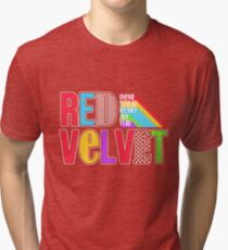 RED VELVET Typography Tri-blend T-Shirt