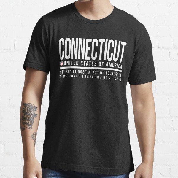 Connecticut Proud (White text) Essential T-Shirt