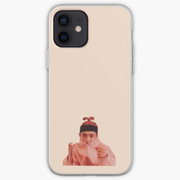 Cute Ateez Hongjoong Pink Hair Ponytail Hoodie iPhone Soft Case