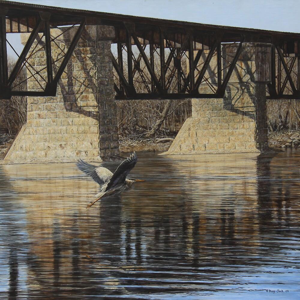 Cayuga Train Bridge by Billy-Jack  Milligan