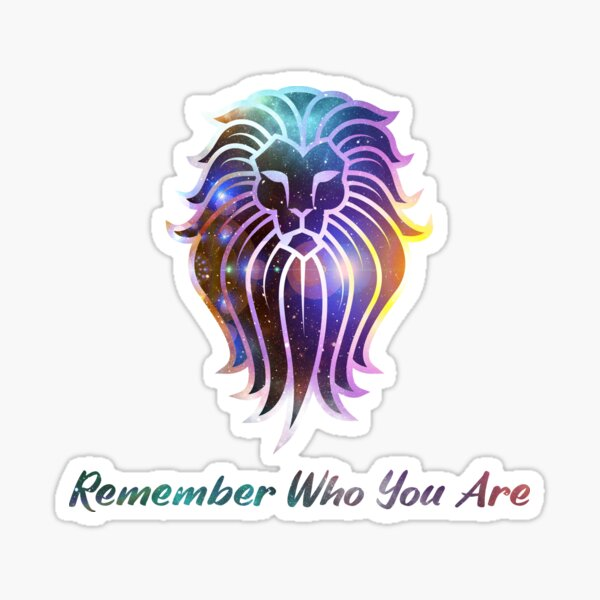 Spiritual Motivational Self Love Quote - Remember Who You Are (Black Background) Sticker