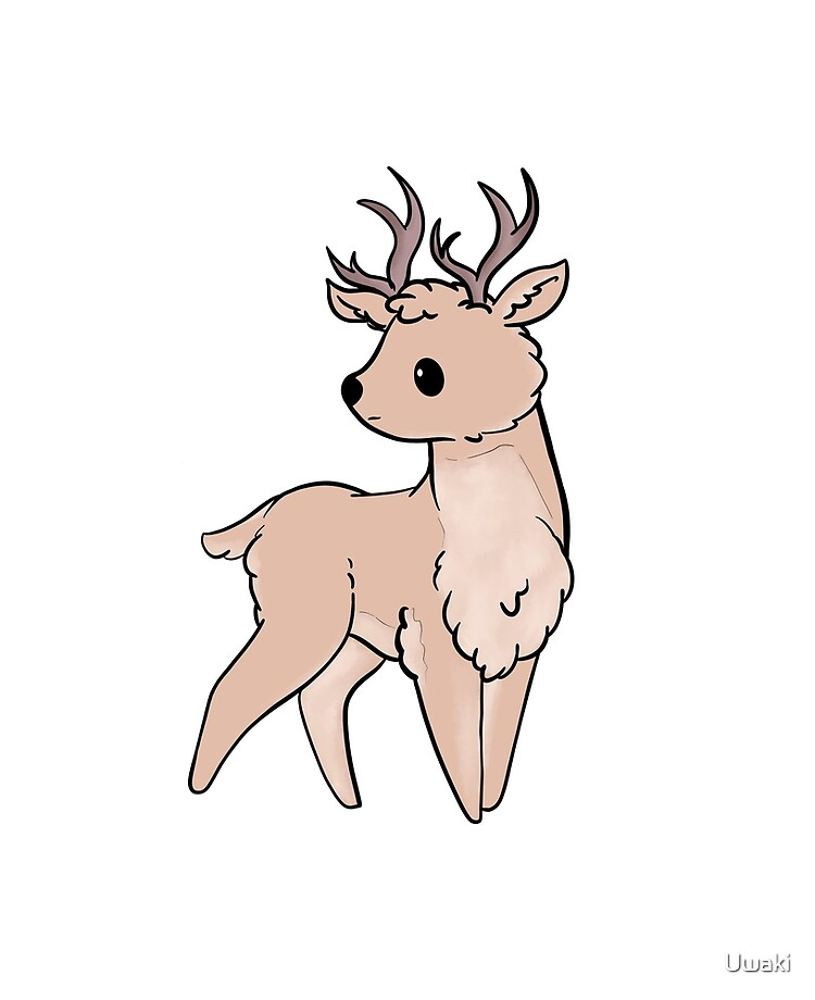 Cute Deer Stickers Ipad Case Skin By Uwaki Redbubble