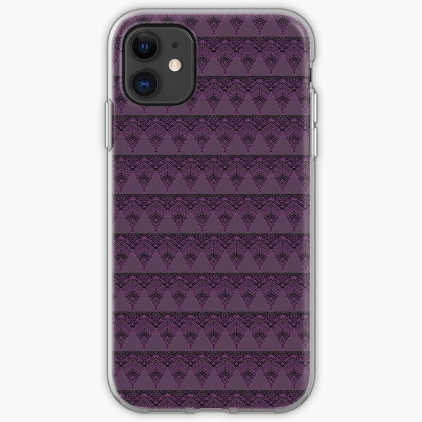 Purple and black lace iPhone Soft Case