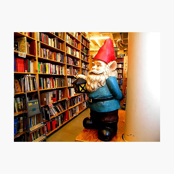 Library Gnome Photographic Print