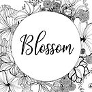 color it yourself - floral blossom wreath by maarta