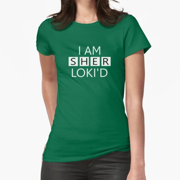 I AM SHERLOKI'D Fitted T-Shirt