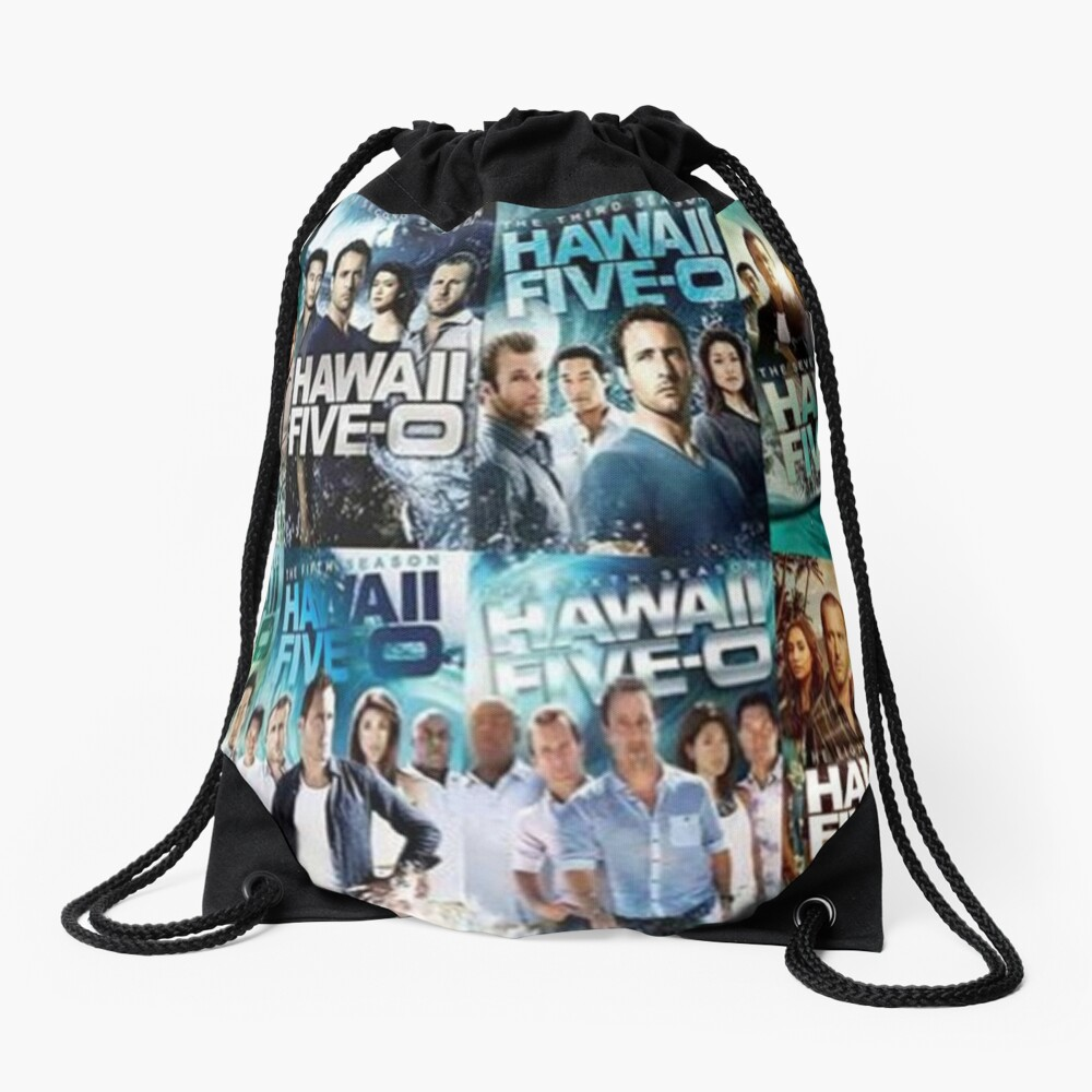 Hawaii five 0  Drawstring Bag