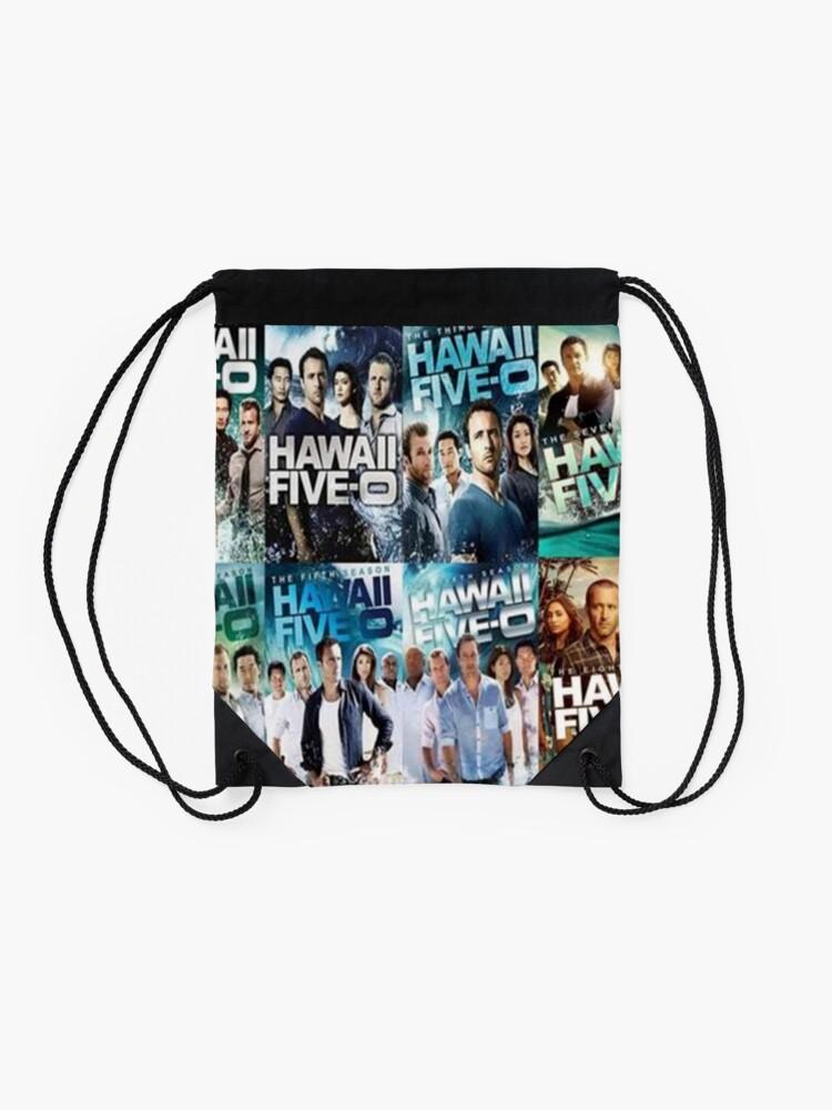 Alternate view of Hawaii five 0  Drawstring Bag
