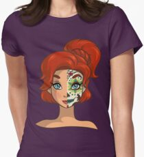 Sugar Skull Series: Russian Princess Womens Fitted T-Shirt