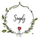 Simply love - painted with watercolor and ink - floral wreath by maarta