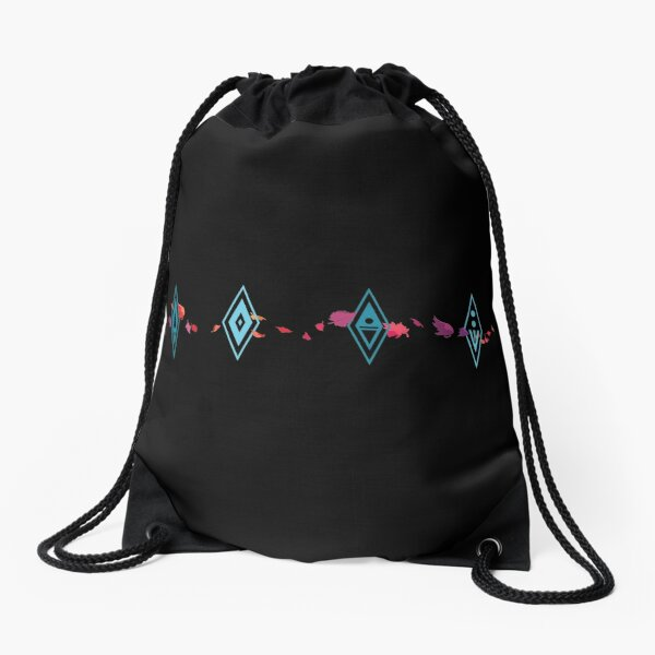 Frozen Elements Drawstring Bag