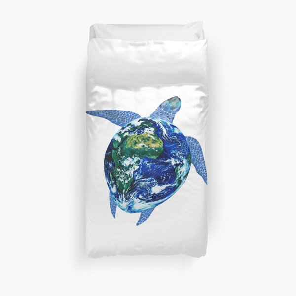 Mother Earth Sea Turtle Duvet Cover