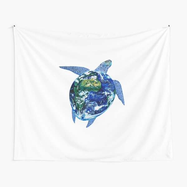 Mother Earth Sea Turtle Tapestry
