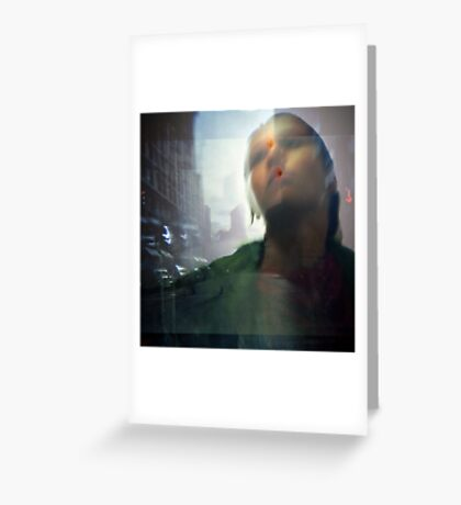 as she wept Greeting Card